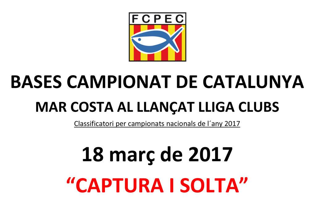 CAMPIONAT DE CATALUNYA MAR COSTA AL LLANÇAT PER EQUIPS