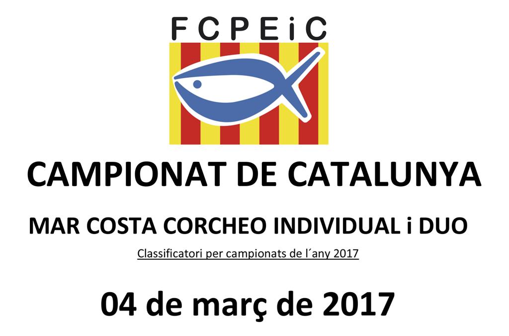 CAMPIONAT DE CATALUNYA MAR COSTA CORCHEO INDIVIDUAL I DUO